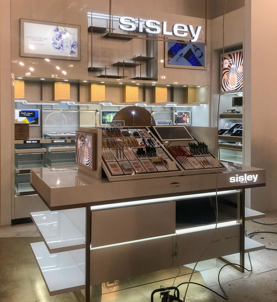 Stand Sisley Galeries Lafayette Luxembourg